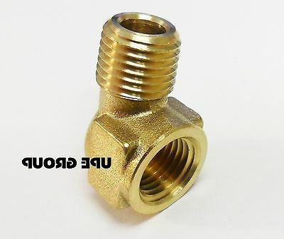 """BRASS Elbow Fitting 90 Degree 1/4"""" NPT FORGED Pipe Thread Tubing"""