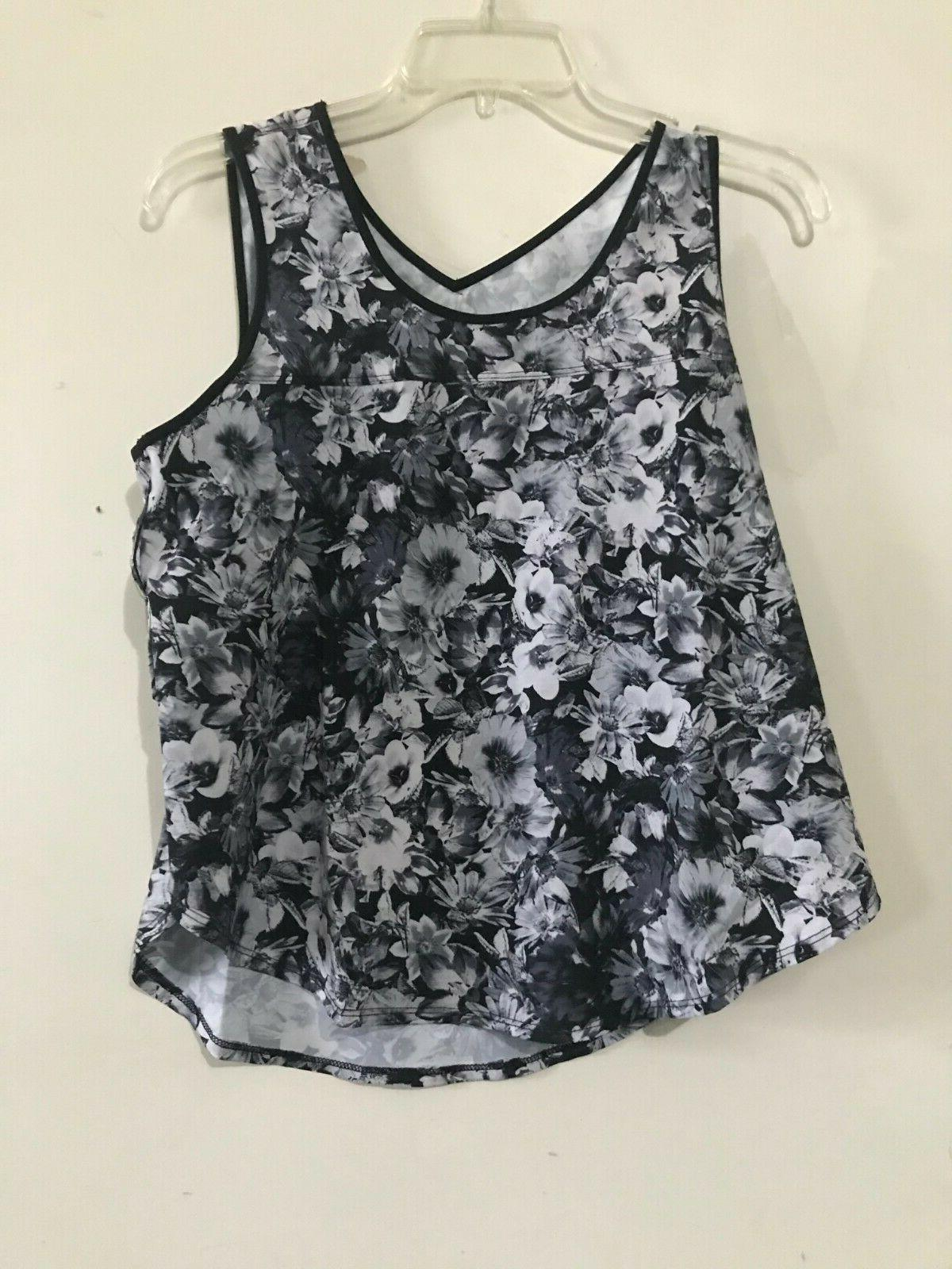 90 Degree By Reflex Size M Floral Athletic Apparel Workout T