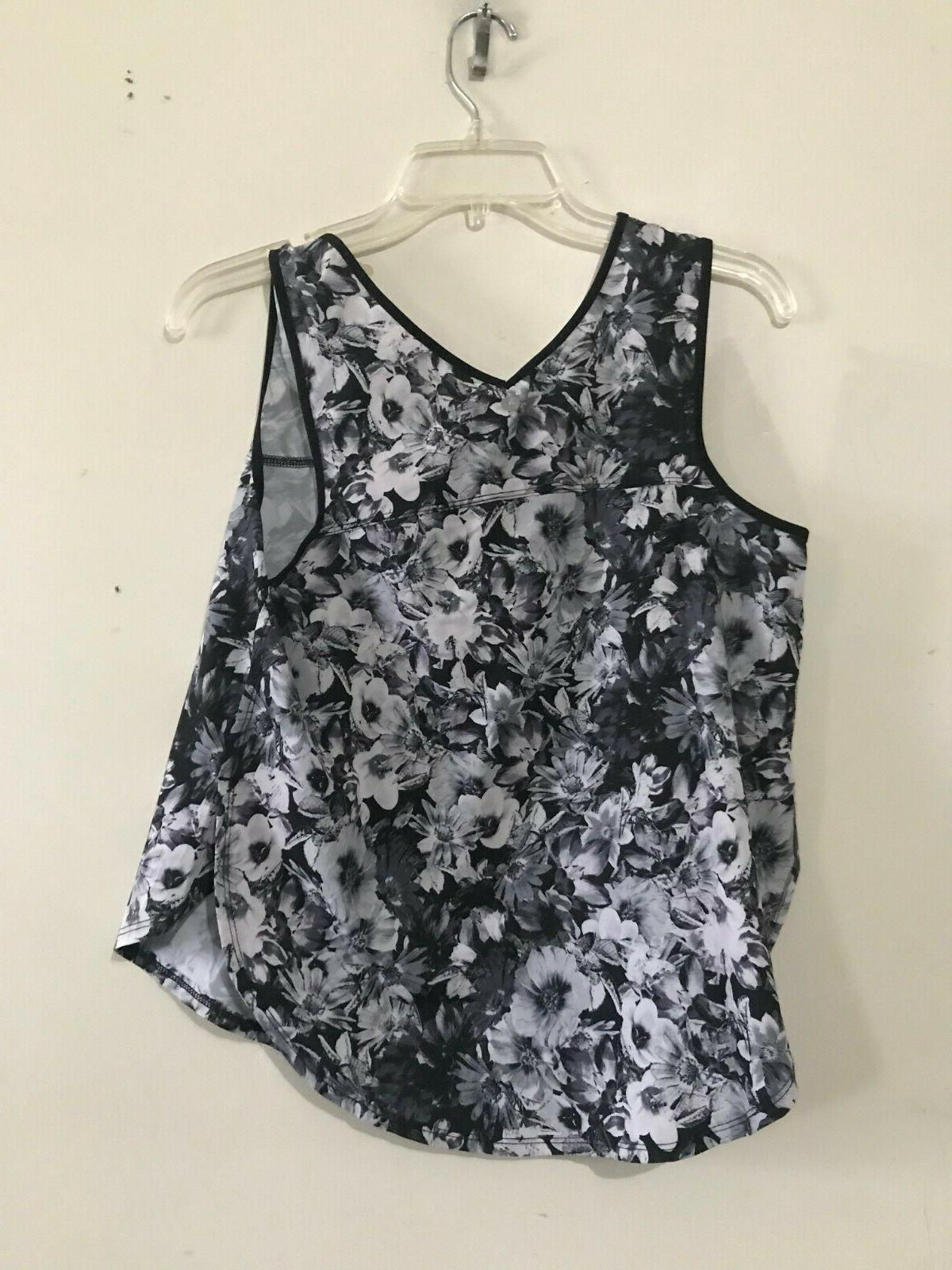 90 Size M Floral Athletic Apparel Top RN#144527