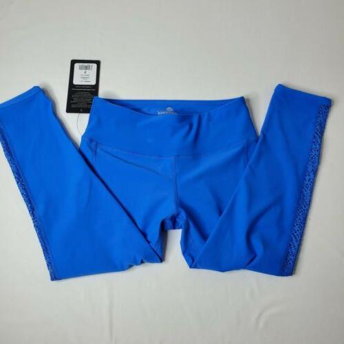90 Degree By Womens Capri Leggings, Blue mech, Size