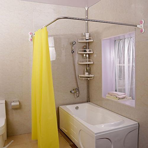 Baoyouni Curved Shower Curtain Rod