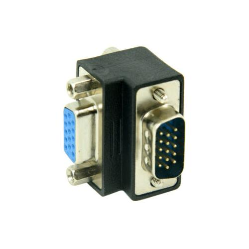 Down Right Angled 90 Degree VGA Male To Female Extension Ada