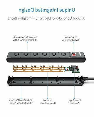 Electric Strip 6-Outlet 90