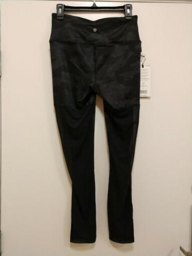 90 Degree Etched Camo Black Leggings. Medium