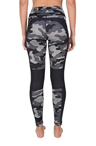 90 Degree By Etched Camo Print Leggings - - Large