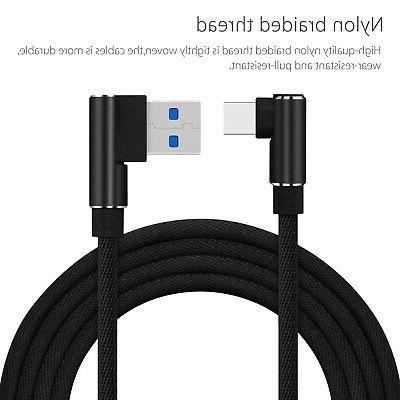 90 Degree Angle Charge 3 FT USB Cable Rapid Power Sync Cord