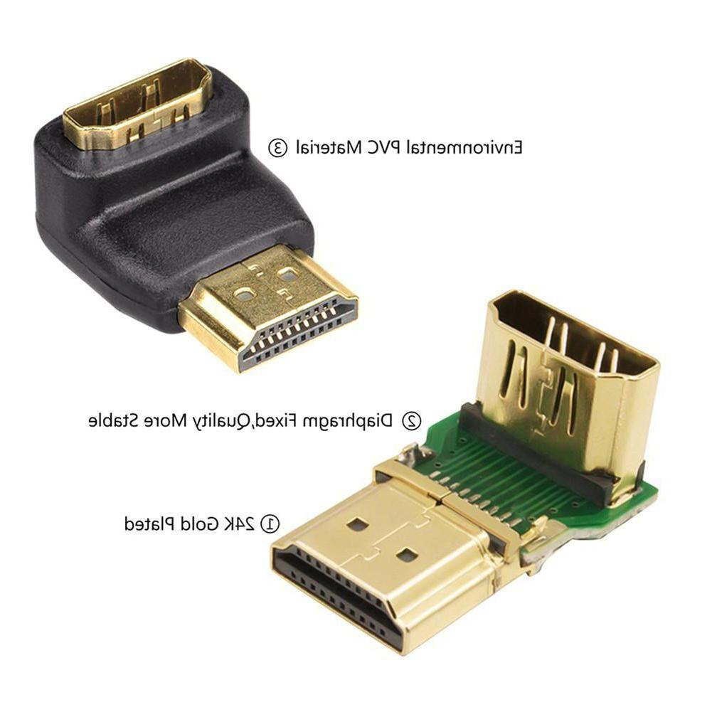 <font><b>HDMI</b></font> <font><b>Adapter</b></font> Converters <font><b>90</b></font>/270 <font><b>Degree</b></font> Male Converter HDTV PC