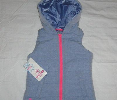Girls S/M 90 Degree Full Hoodie Vest Blue