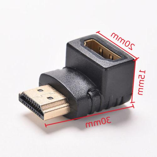 HDMI 90 Degree L Shaped Connector Cable to Angle