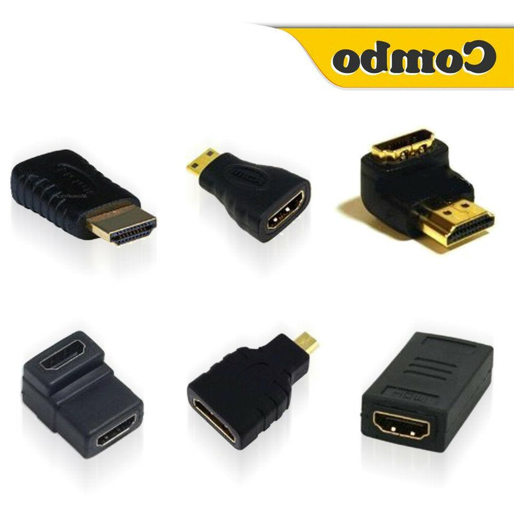 Hdmi Cable Adapters Kit Supports Full HD 4K 1080P 3D Player