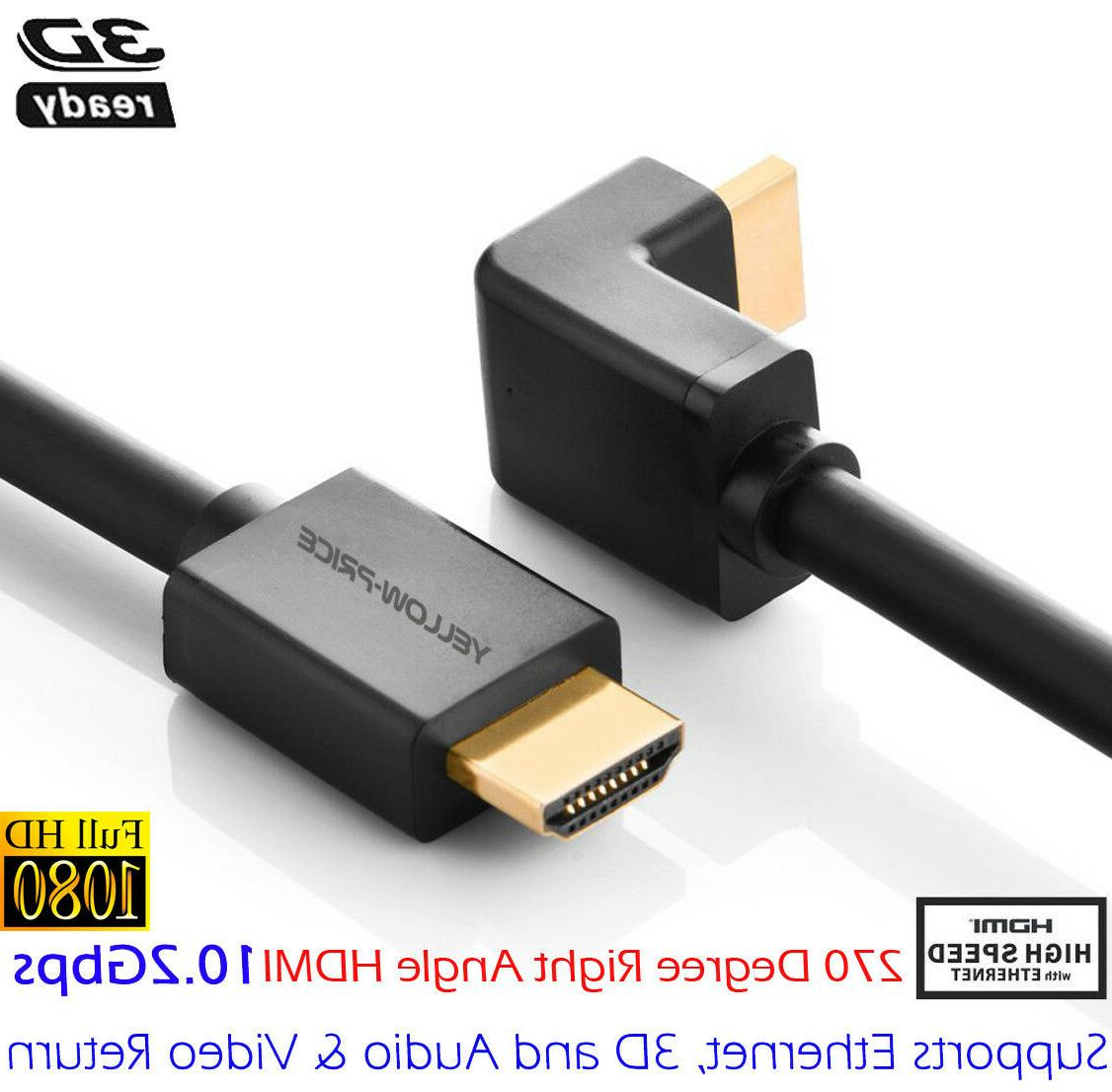 High Speed HDMI Right Angle 90 Degree/270 Degree HDMI Cable