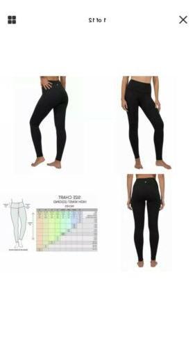 90 Degree By High Waist Fleece Leggings Med W/