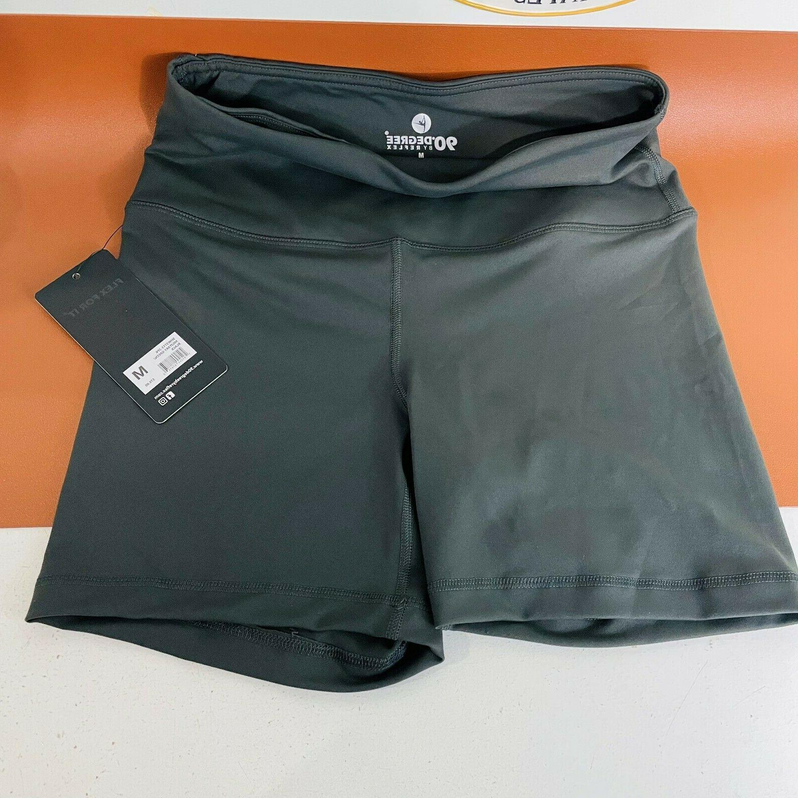high waist power flex yoga shorts tummy