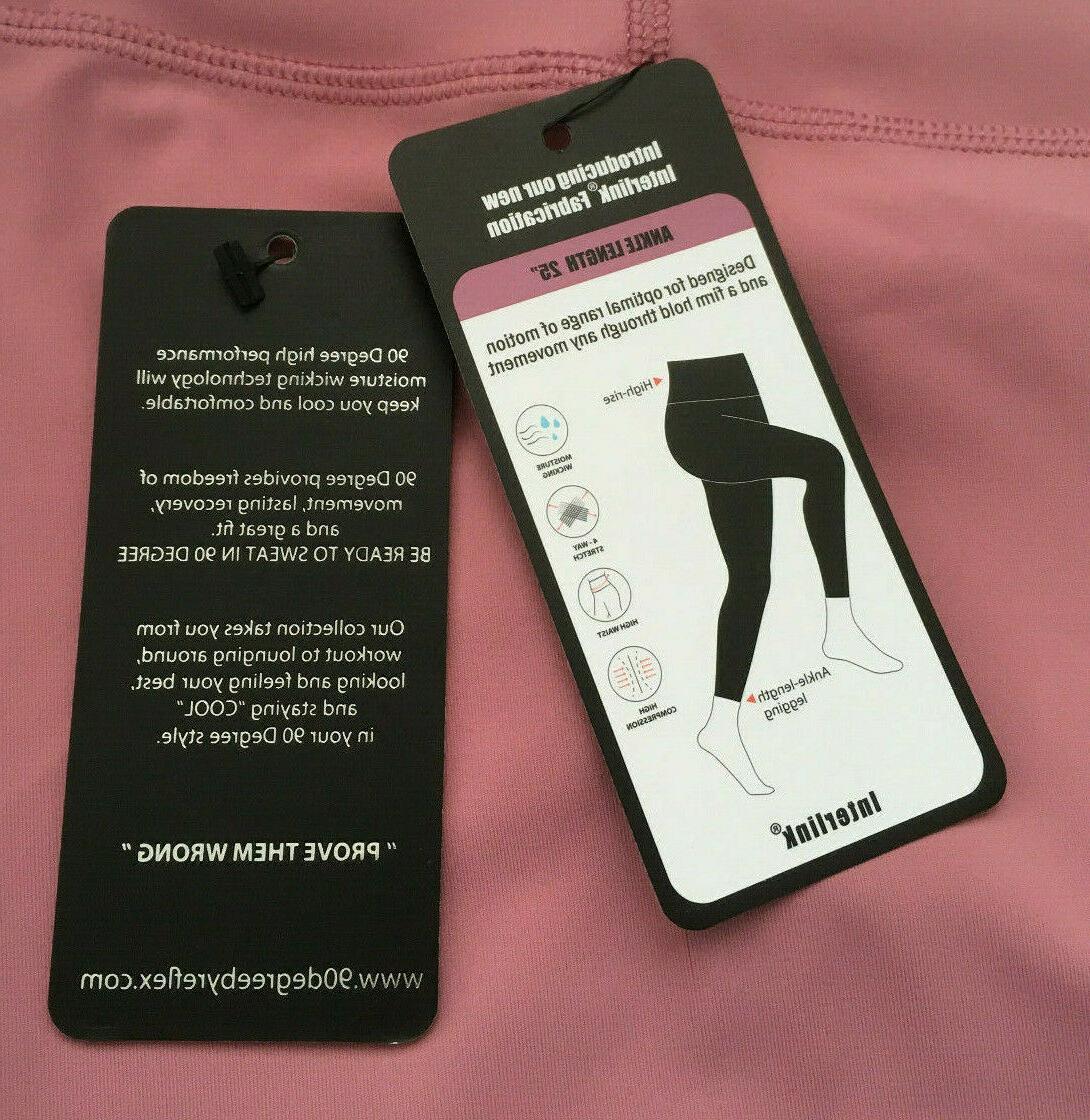 high waist squat proof interlink leggings pink