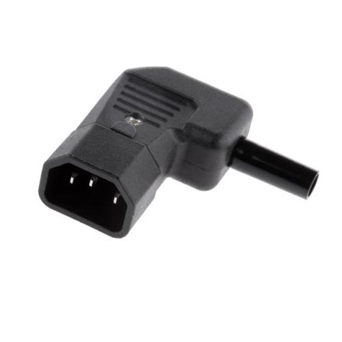 IEC C14 90 Degree Socket Connector Plug Re-wireable Adapter