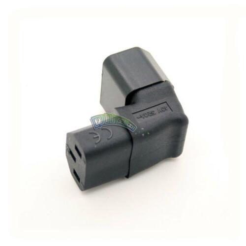 90 DEGREE IEC C14 TO C13 POWER ADAPTER PDU PLUG/SOCKET UP Wa