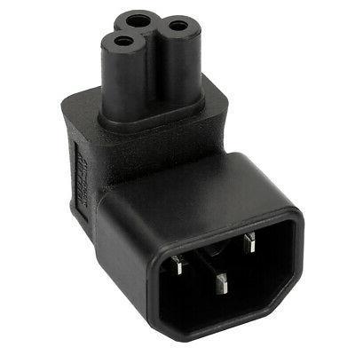 IEC320-C14 to C5 Degree AC Power Electrical Converter Plug