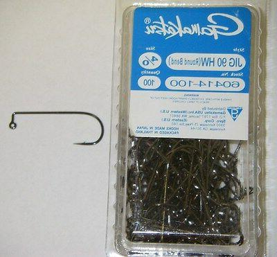 GAMAKATSU JIG HOOKS  HEAVY WIRE 90 DEGREE ROUND BEND HW #604