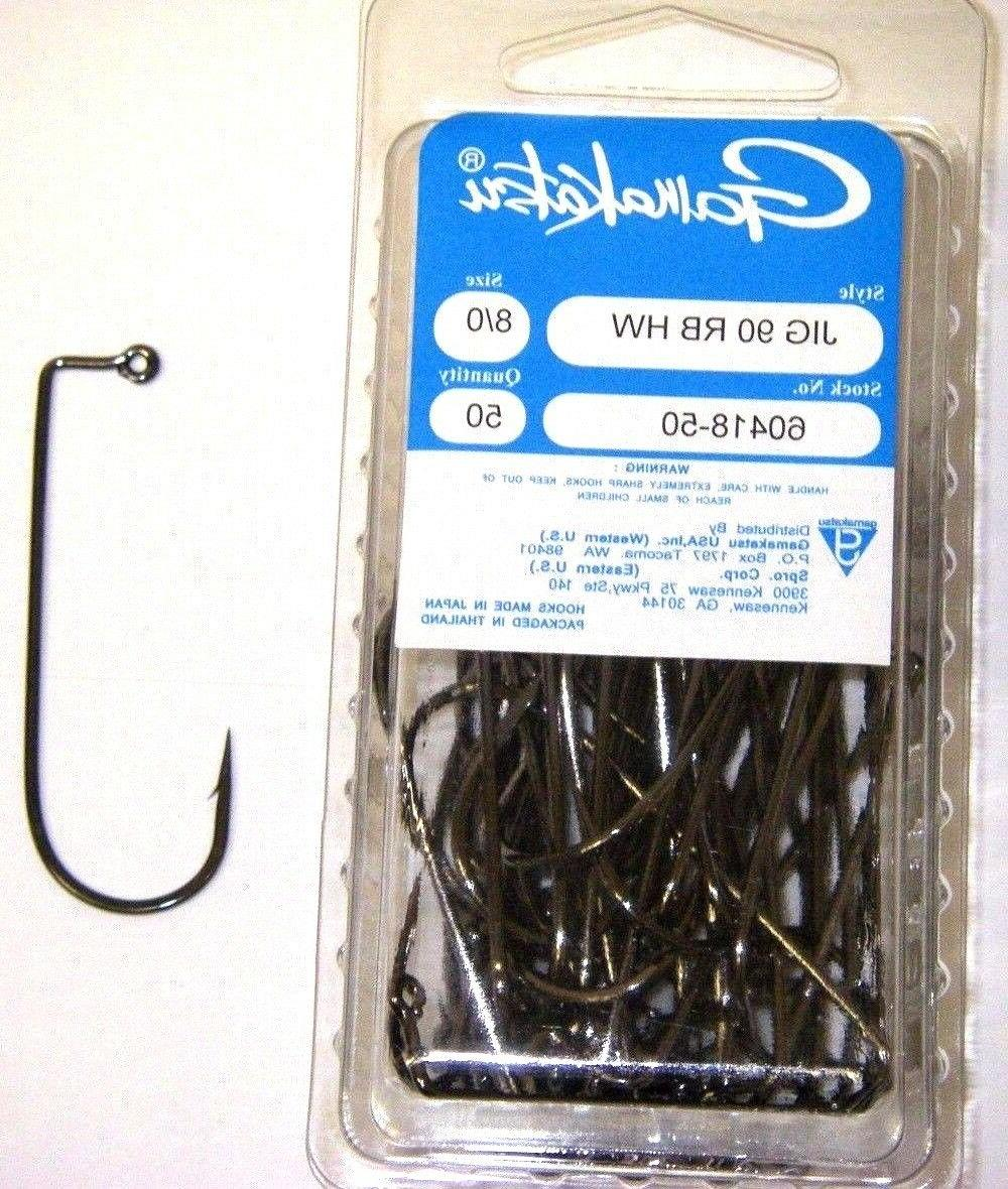 GAMAKATSU #604 Jig Hooks 90 Degree Heavy Wire Round Bend 25 Pack PICK YOUR SIZE!