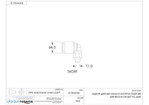 SMC KQ2L07-32A Brass 90 Degree Elbow, Tube UNF