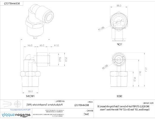 SMC KQ2L11-37AS Brass Tube Fitting with Sealant, Degree Elbow, x