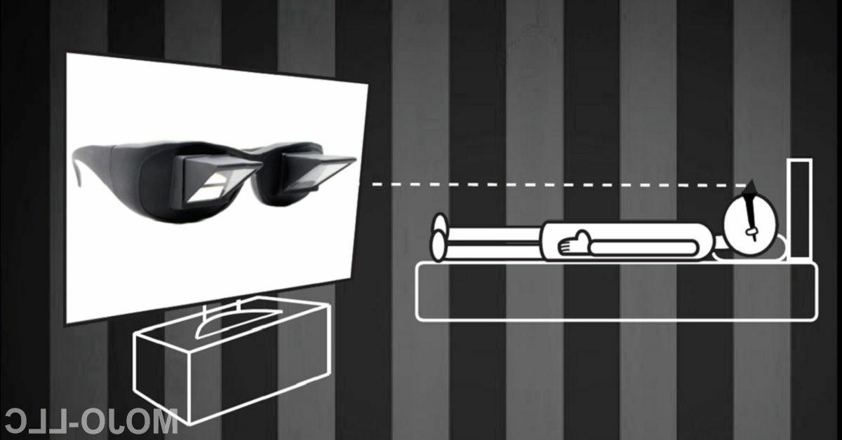 lazy glasses periscope horizontal readers