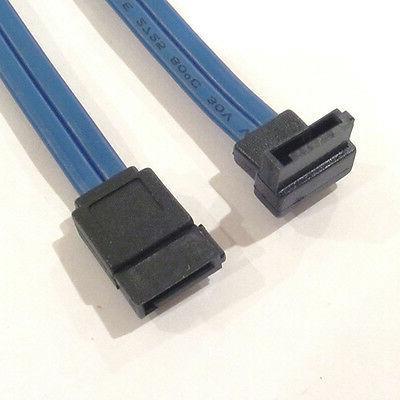 7 Pin SATA 90 Degree Left Angle to Straight 7 Pin Cable 20 I