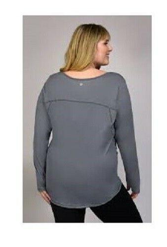 90 Long Sleeve Plus Size 3X Holes Azure