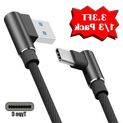 Lot 90 Degree Fast Type C Cable Rapid L USB-C