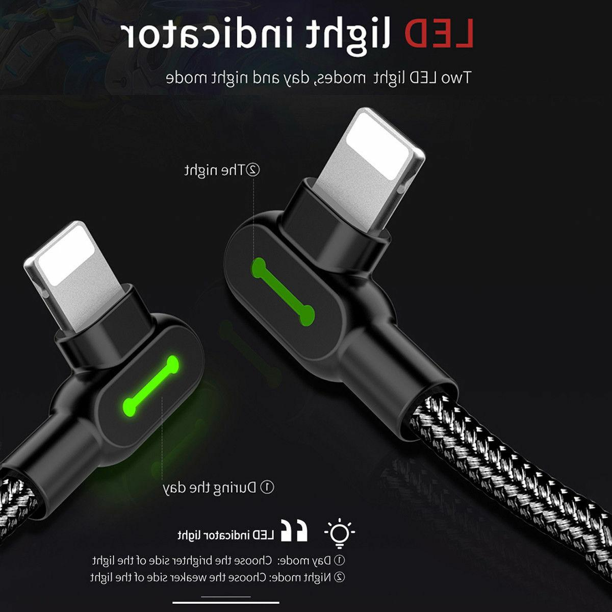 LOT 90 Degree Led Charger lightning iPhone 8