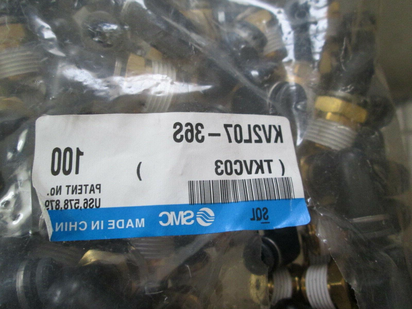 Lot of 5 SMC 1/4 NPT 90 ELBOW Fitting Connector