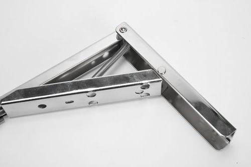 12Inch Spring Loaded Bracket-Chrome Steel-PAIR