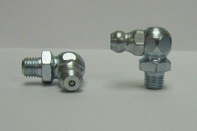 M6 x .75mm 90 Degree Metric Grease Zerk Nipple Fitting 5 Pcs