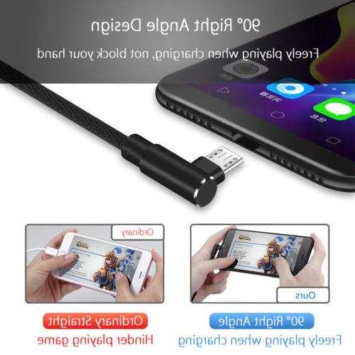 Micro USB Data Snyc FAST Charging 90 Degree For Android Samsung S7