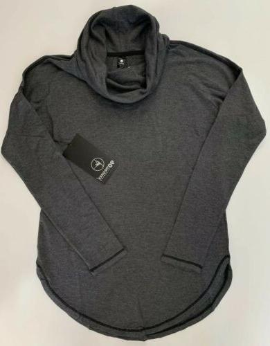 mock neck comfy shirt lfw94340 heather charcoal
