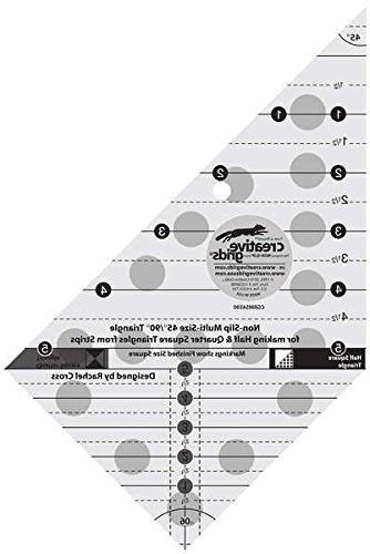 multi non slip triangle ruler