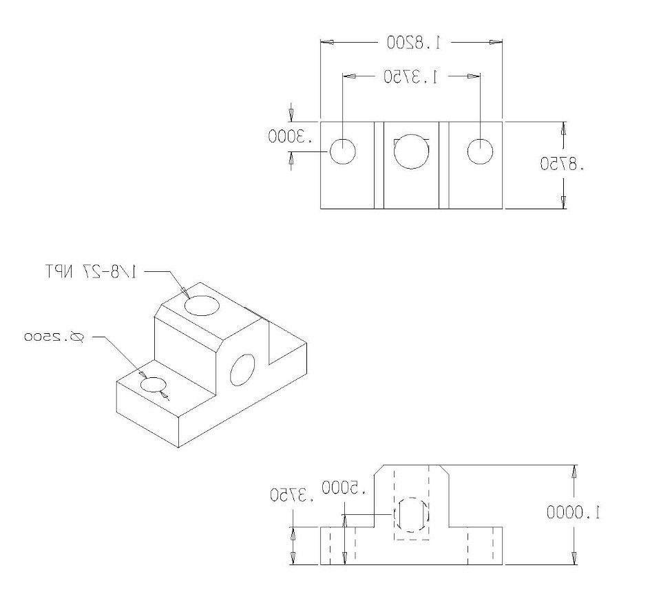 NEW 90 Elbow port 2200PDE-2 6061 Aluminum