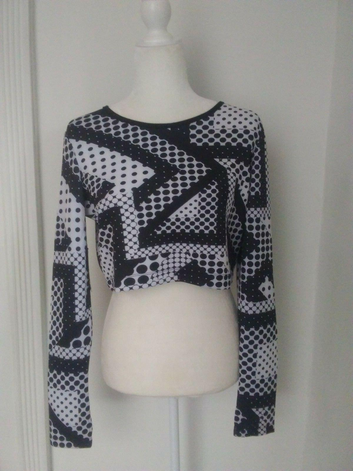 new black white polka dot long sleeve