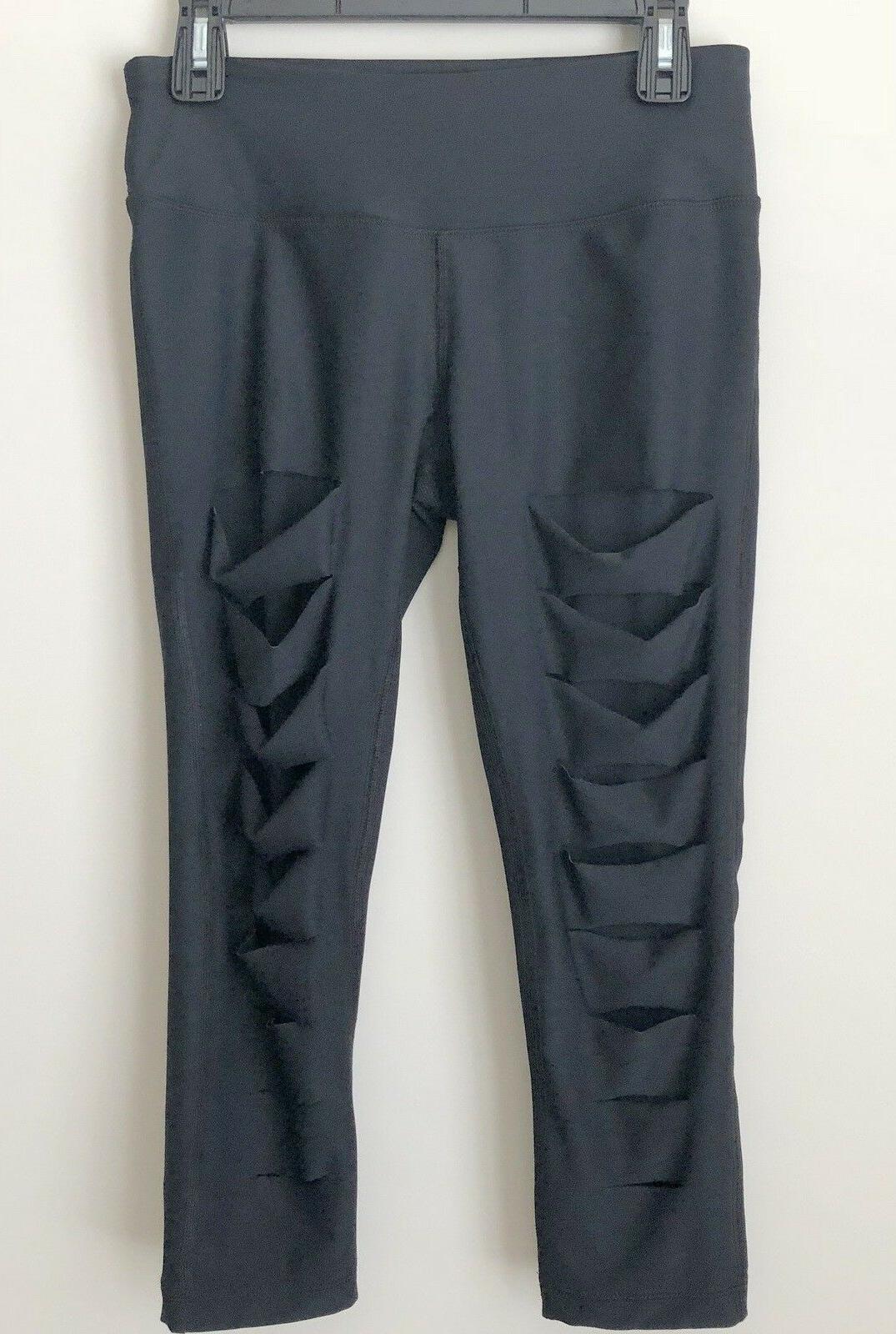 new capri black pants cut front size