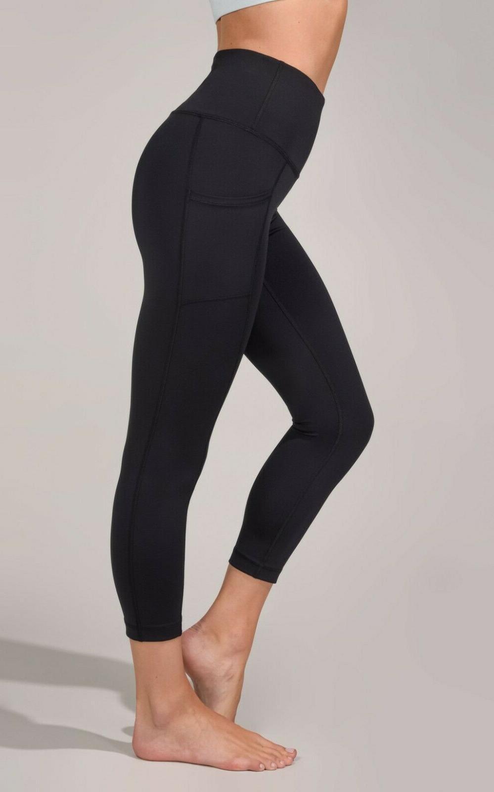 new interlink high waist pocket capri leggings