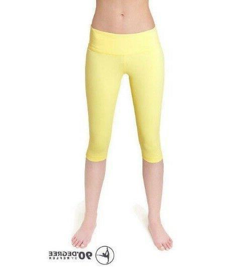nwt by reflex women capri leggings bannana