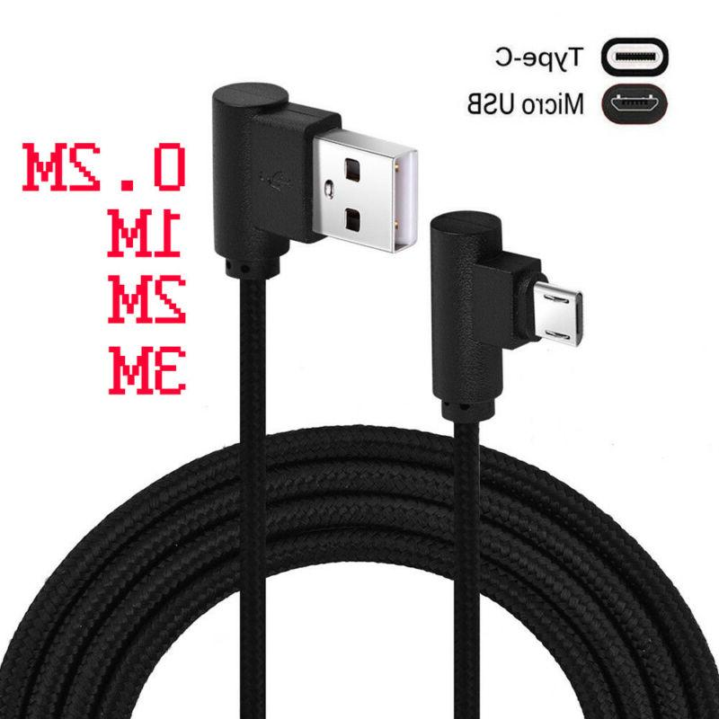 nylon 90 degree right angle micro usb