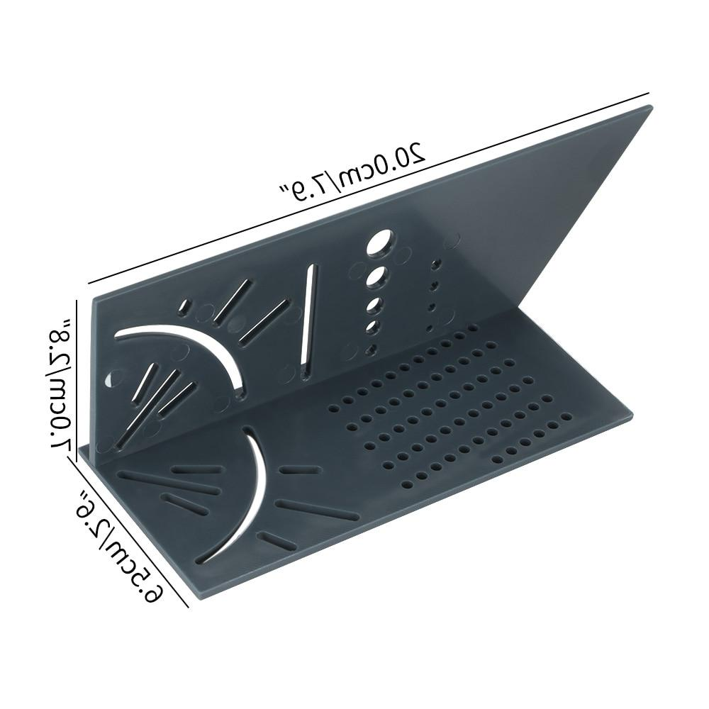Plastic Ruler 3D <font><b>90</b></font> Square Over T-Type Angle