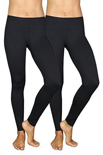 power flex yoga pants black 2 pack
