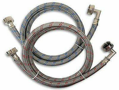premium stainless steel washing machine hoses w