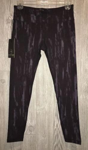 printed yoga black grey pants leggings new