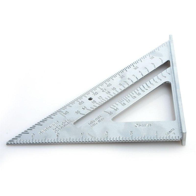 Professional Protractor alloy triangle ruler metric 45 ruler