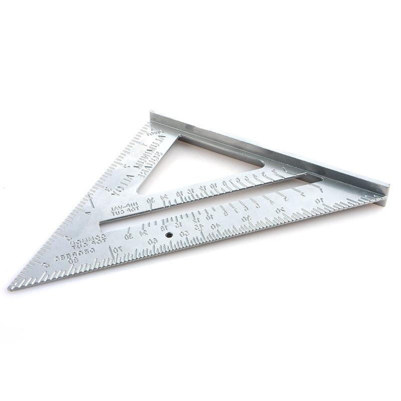 Professional Protractor 7-inch alloy carpentry metric inch 45 square triangle ruler