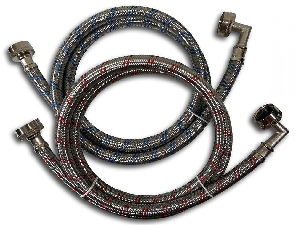 Red Blue Premium Stainless Steel Washing Machine Hoses with