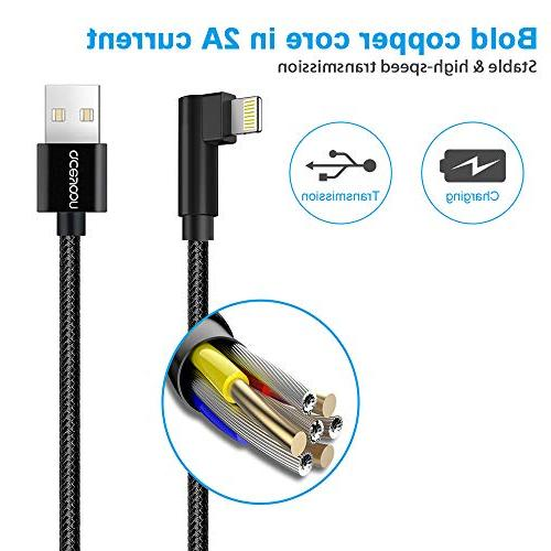 Compatible for 90 Phone 3ft 6ft 3 aceyoon Right Charging Cable Connector Charge Xs, 7 6s, 6
